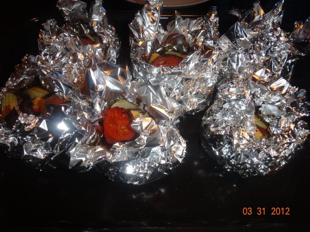 Folie bøf med grønsager