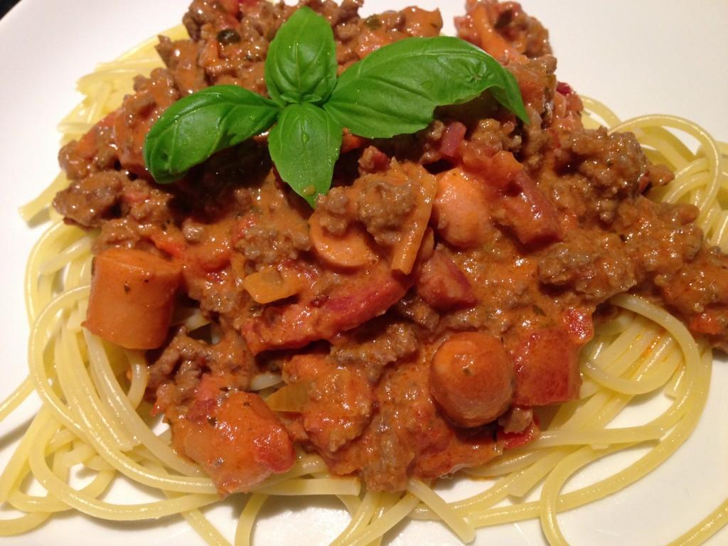 Dejlig hjemmelavet spaghetti