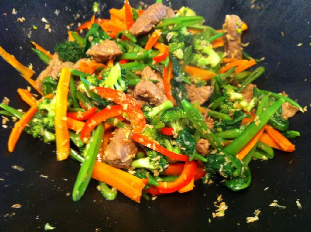 Oksekøds wok