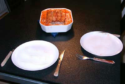 Koteletter i fad